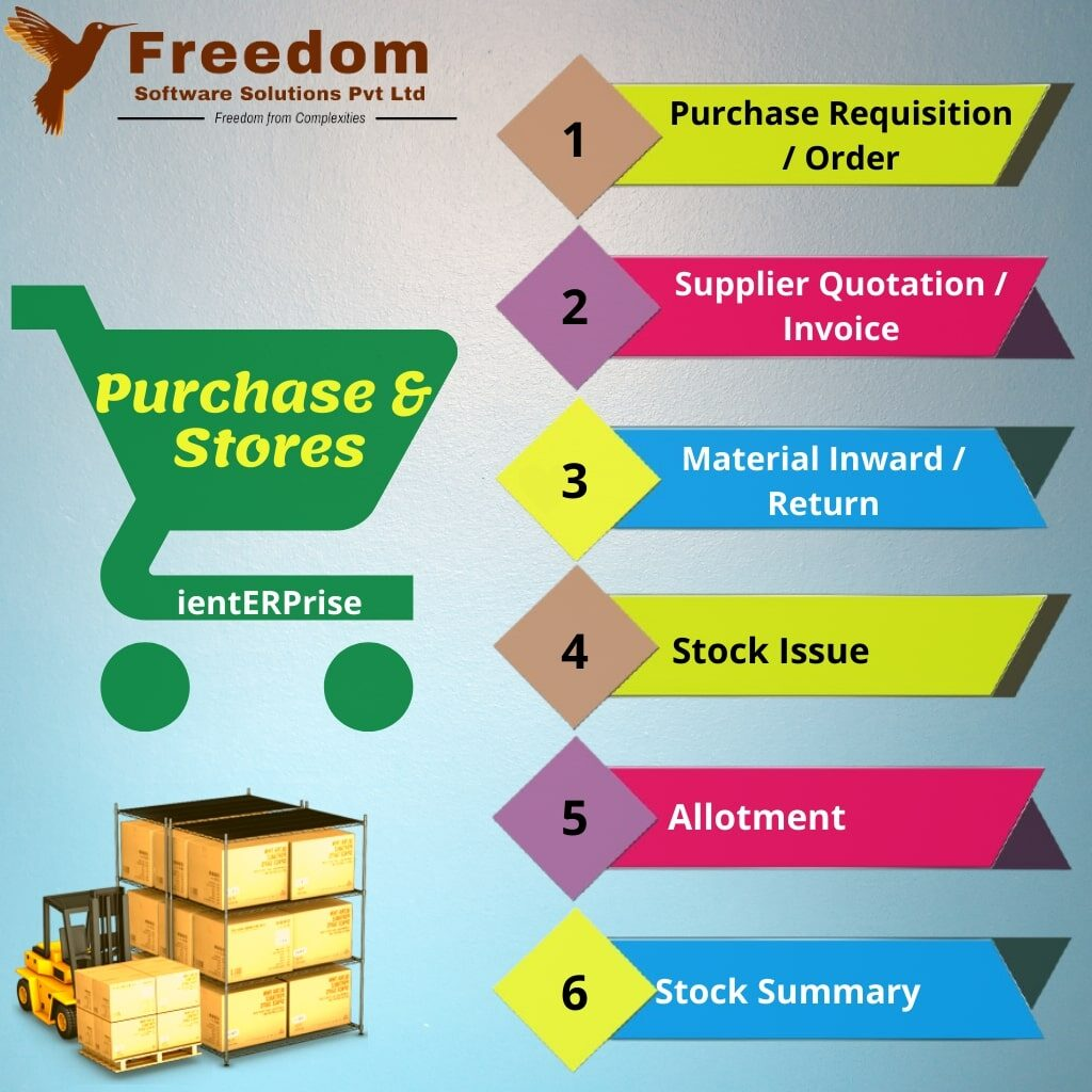ERP for purchase & stores